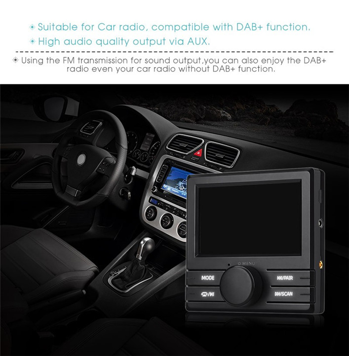 car bluetooth dab digital radio box adapter fm transmitter. Black Bedroom Furniture Sets. Home Design Ideas